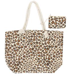 Shopper met luipaardprint
