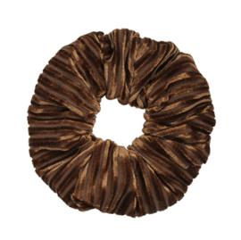 Scrunchie Crushed Velvet Bruin