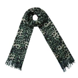 Shawl Leopard Spots Groen