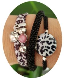 Schelp Leopard zwart wit