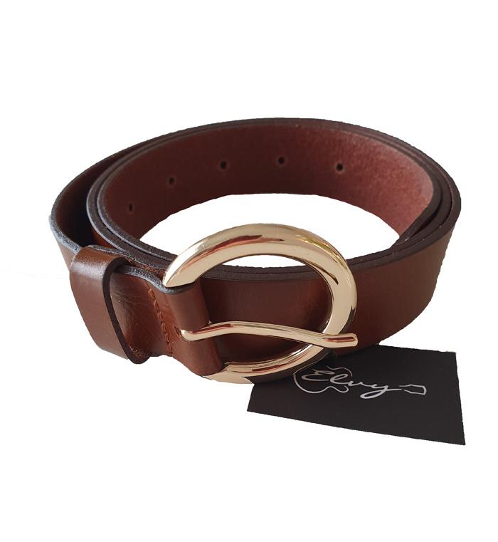 Elvy - Plain Belt Cognac