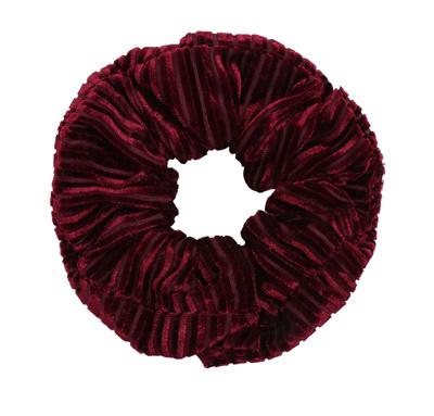 Scrunchie Crushed Velvet Wijnrood