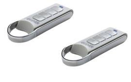 2 stuks Quiko qk-m04 handzender design, rolling code en fixed code. 433Mhz. (22,4 p/st)
