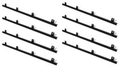 8 meter quiko kunststof tandlat module 4. (18,2 p/m), versterkt met stalen kern inwendig. Extra sterk en extra stil.