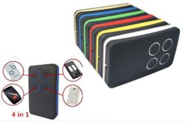 2 stuks Kijzer-K-2130, kan ELK merk Copieren. U weet niet op welke frequentie uw poort werkt? dan onze Multi-frequency duplicate rolling code en fixed code zender , alles van afstand bedienen met dezelfde zender !bereik tot 100meter.! (27,5 p/st)
