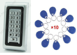 Codeclavier Kijzer S212 Small RVS Vandaalbestendig met 10 Jettons RFID en weerbestendig.