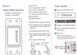 WIFI Draadloze switch . wifi schakelaar 230v, Wifi Module. uw poort openen met uw gsm zonder sim kaart of abonnement.