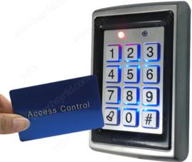 Tijdelijk uitverkocht...Codeclavier Kijzer S208 RVS Vandaalbestendig voor binnenshuis, RFID toepasbaar.