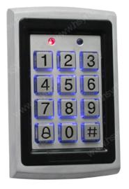Codeclavier Kijzer S208 RVS Vandaalbestendig voor binnenshuis, RFID toepasbaar.