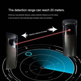 2 Sets k-y610B universele , 180 graden richtbare sensoren op batterij of 12-24v. tot 15 meter bereik. toepasbaar op elk merk automatisering. perfect voor oa schuifpoorten, de oprit behoeft niet te worden open gemaakt.