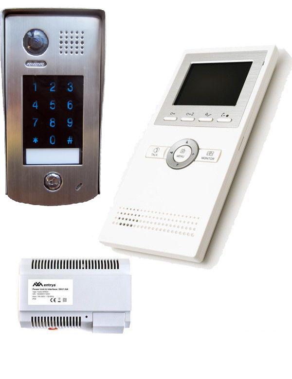 k6 Full HD, 4 inch, RVS videofoon met codeclavier. Topklasse.