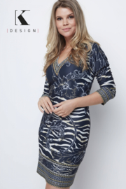 K DESIGN V dress zebra