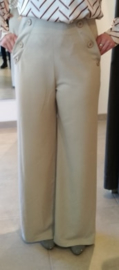 Beige high waist broek STUDIO IT