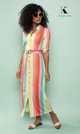 K DESIGN Maxi rainbow dress