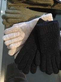 Zwarte glitter handschoenen