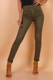 TOXIK basic high waist kaki