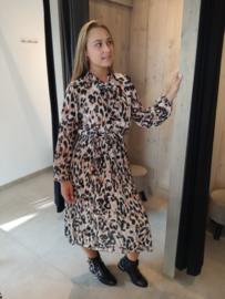 Midi jurk leopard