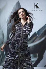 K DESIGN maxi jurk zebra print