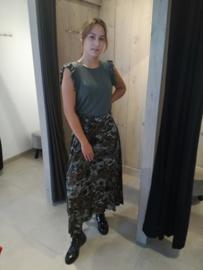 Silky Maxi rok army kaki