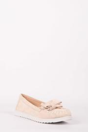 Schoen met strikje beige