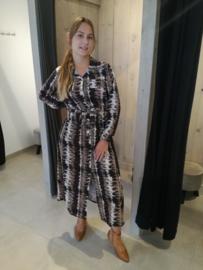 Maxi jurk leo camel