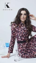 K DESIGN maxi jurk met franje