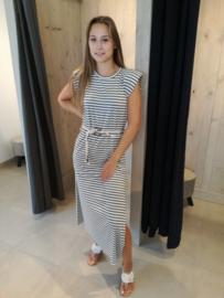 Maxi dress marine kaki
