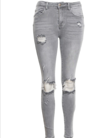 Ripped jeans grijs