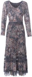 K DESIGN maxi jurk met plooitjes