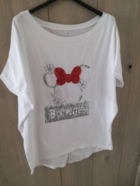T-shirt Mickey bohemian white