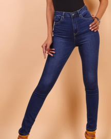TOXIK high waist dark jeans