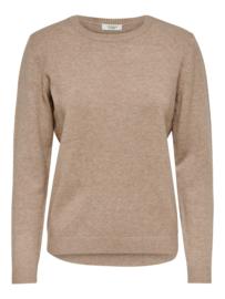 JDY Soft basic pullover beige