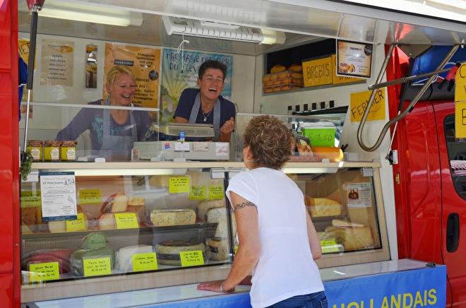 Hollandse kaas op de markt in Chagny
