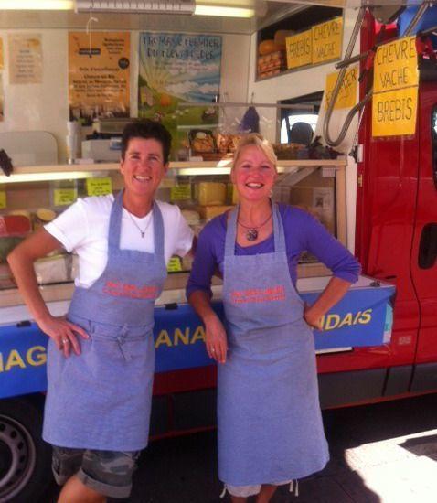 Suus&Paula met hollandse kaas op de franse markt