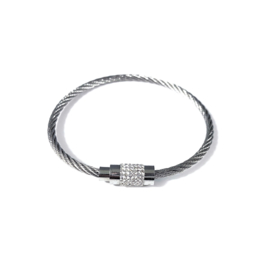Stainless steel armband in zilver | Meili
