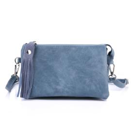 Handtas in jeansblauw