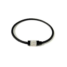 Stainless steel armband in zwart | Meili
