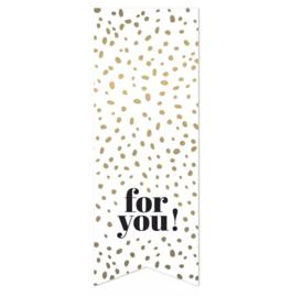Sticker 'For you!' | 10 stuks