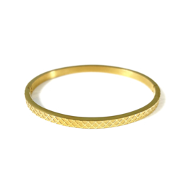 Stainless steel bangle in goud | Depth