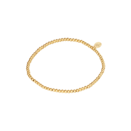 Stainless steel armbandje in goud | Small Beads