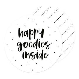 Cadeaukaartje 'Happy goodies inside'