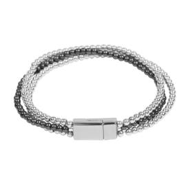 Armband in zwart/zilverkleur | Greece