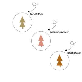 Kerststickers 'Metallic Kerstboompjes' | 15 stuks