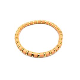 Armbandje zalmroos/goud