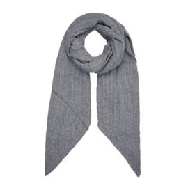 Gebreide sjaal in grijs