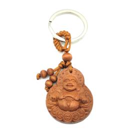 Gelukssleutelhanger 'Happy Buddha'