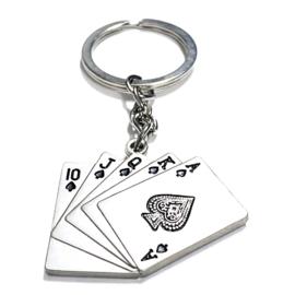 Sleutelhanger 'Poker' in zwart