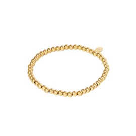 Stainless steel armbandje in goud | Midi Beads