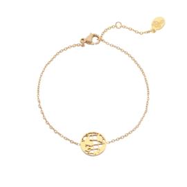 Stainless steel armbandje in goud | Globe
