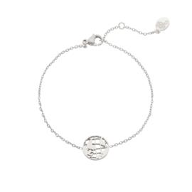 Stainless steel armbandje in zilver | Globe